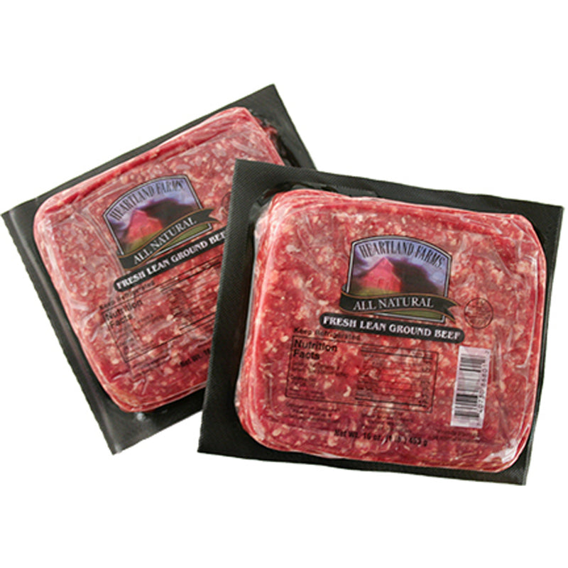 Heartland Farms All-Natural Lean Ground Beef (1 Pound)