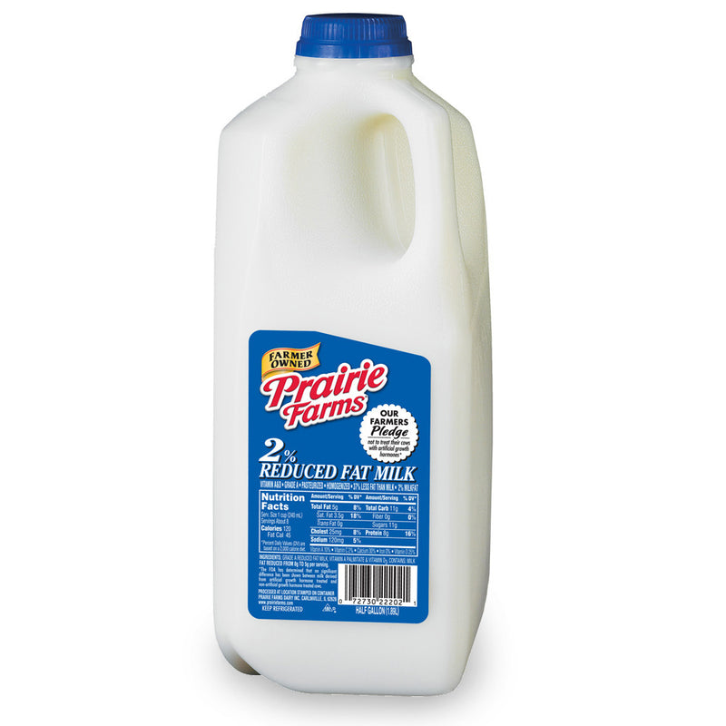 Prairie Farms 2% Milk - 1/2 Gallon