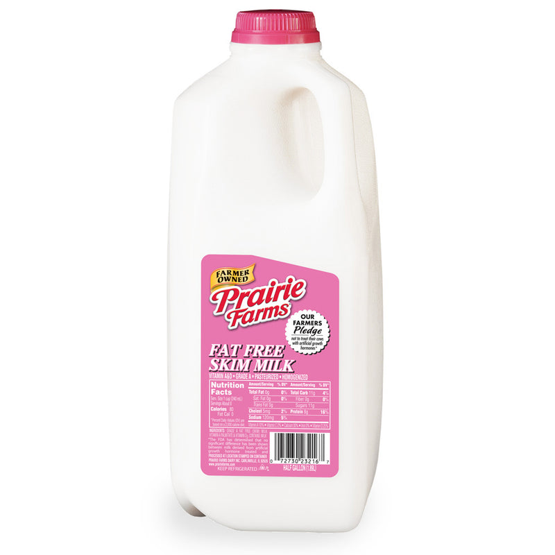 Prairie Farms Skim Milk - 1/2 Gallon
