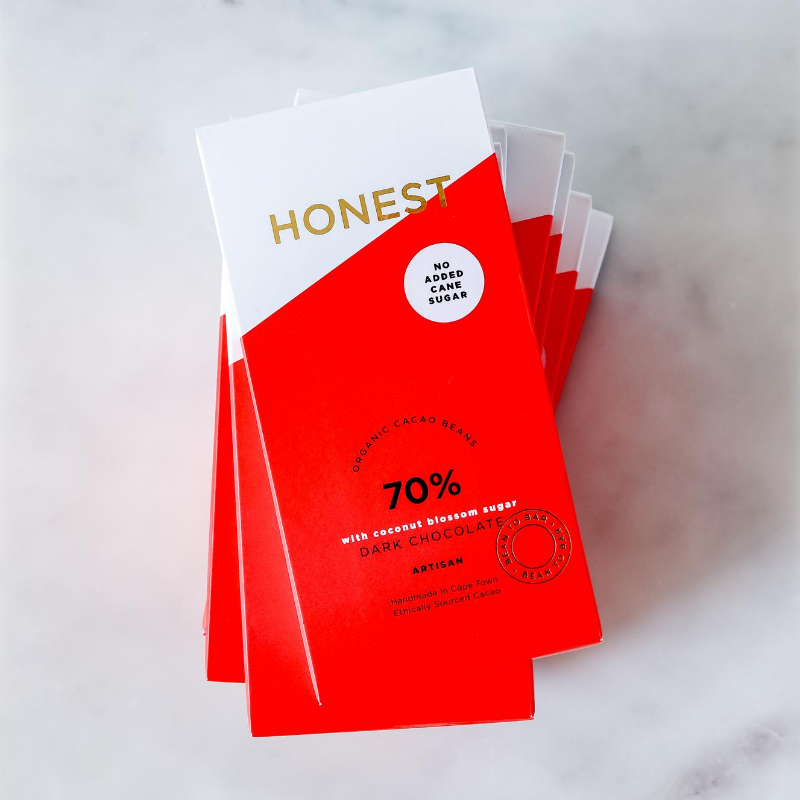 Honest Chocolate 70% with Coconut Blossom Sugar (60g)