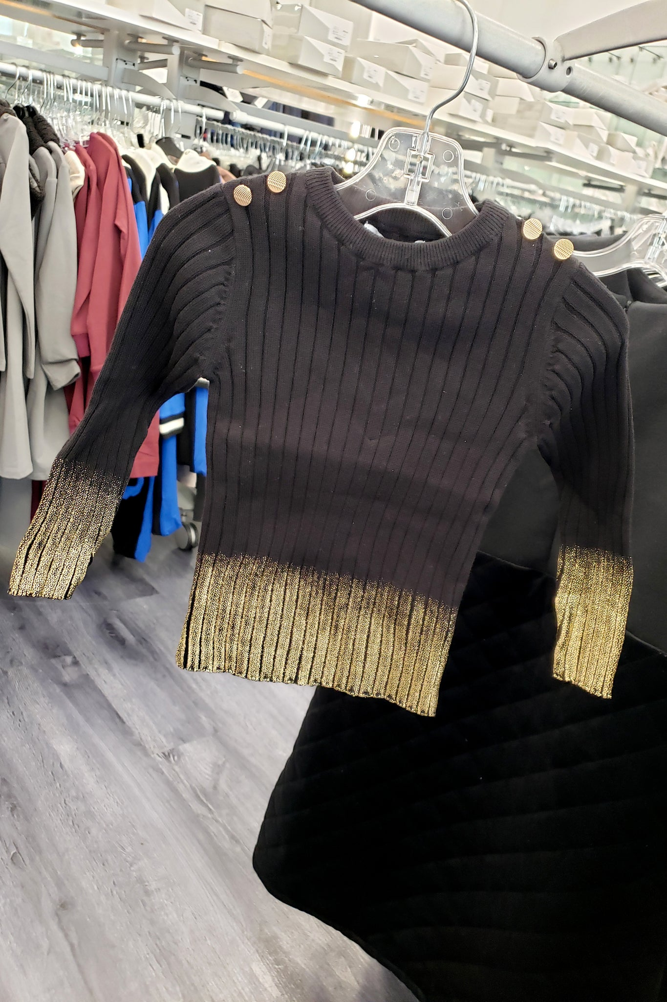 Bf Ombre Metallic Sweater