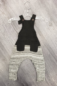 Baby overall with tweed