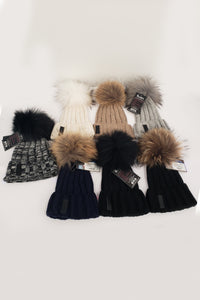 Maniere Ribbed Wool Fur hat