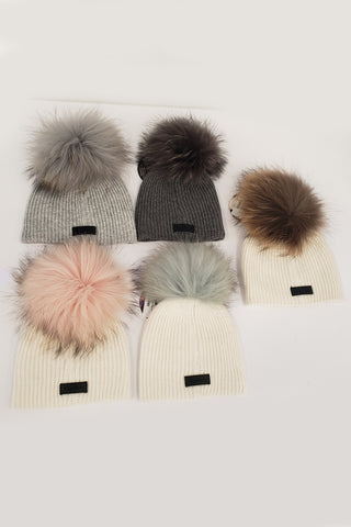 maniere knitted wool baby hat