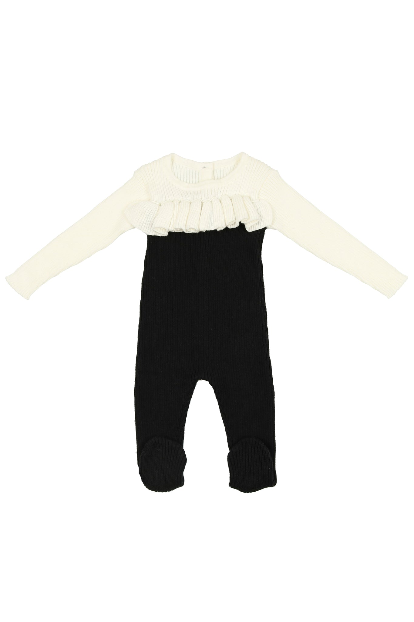 Noovel ruffle knit footie