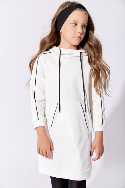 One Child Piped hooded dress