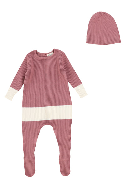 Bee and Dee knit colorblock footie