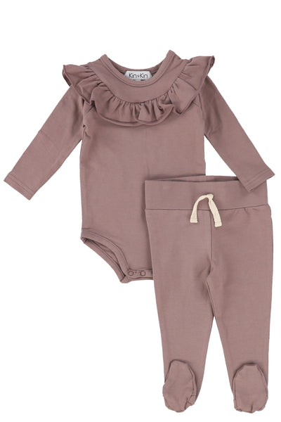 Kin+Kin ruffled baby set