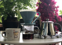Load image into Gallery viewer, CAFEC 300 ml Beaker Server for Coffee Pour Over with scale marks by cups  | Recommended for Size: V60 01 or 02