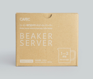CAFEC 300 ml Beaker Server for Coffee Pour Over with scale marks by cups  | Recommended for Size: V60 01 or 02