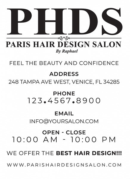 Paris Hair Design Salon by Raphael Custom Shirts