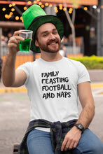 Load image into Gallery viewer, Family Feasting Football and Naps T-shirt