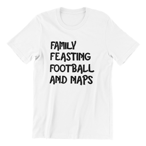 Family Feasting Football and Naps T-shirt