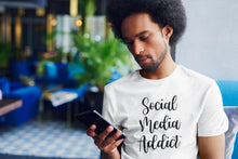Load image into Gallery viewer, Social Media Addict T-shirt