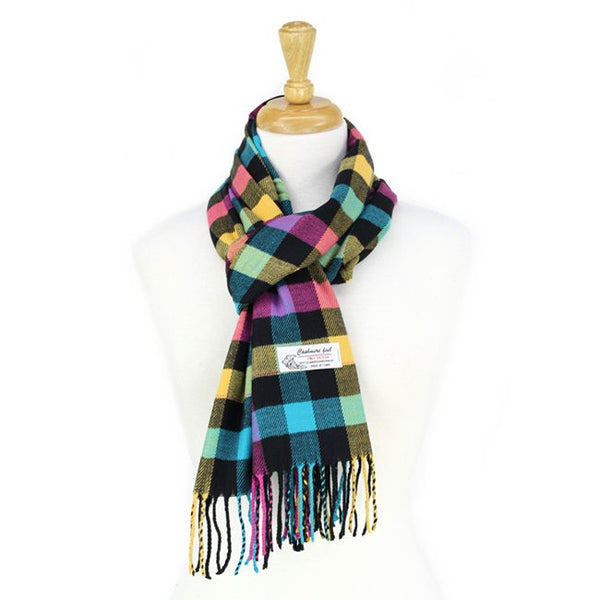 Cashmere Feel Scarf FW03-04 Black/Yellow/Pink/Teal