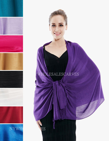 1681S Assorted Colors Pashmina Scarves