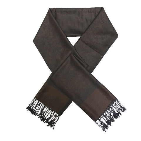Whole Jacquard Pashmina FW1801 Dark Coffee