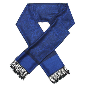 Whole Jacquard Pashmina FW18-108 Royal Blue