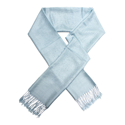 Whole Jacquard Pashmina FW1819 Baby Blue