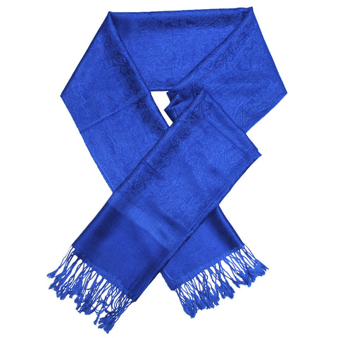 Whole Jacquard Pashmina FW1822 Blue