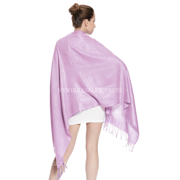 Whole Jacquard Pashmina FW1823 Baby Purple