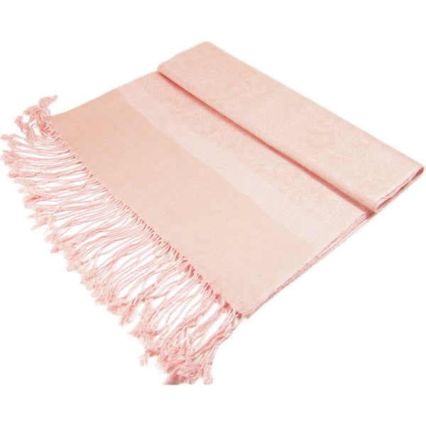 Whole Jacquard Pashmina FW1826 Light Coral