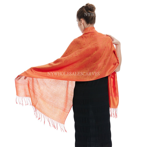 Whole Jacquard Pashmina FW1839 Orange