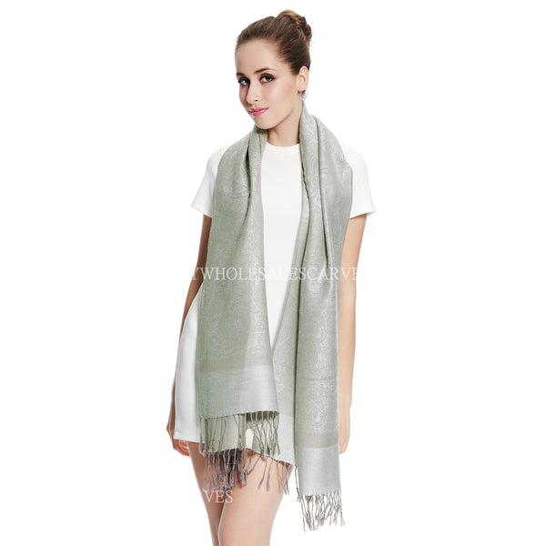 Whole Jacquard Pashmina FW1843 Grey