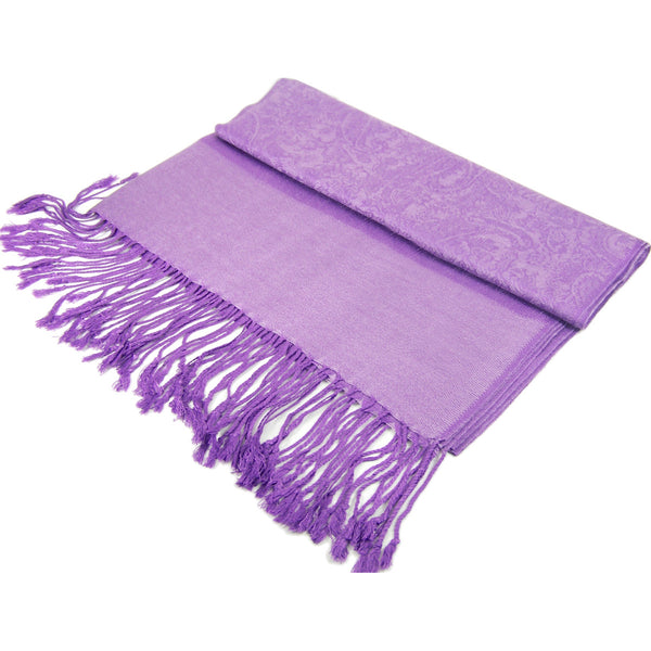 Whole Jacquard Pashmina FW1846  Light Purple