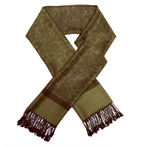 Whole Jacquard Pashmina FW1859 Olive Green