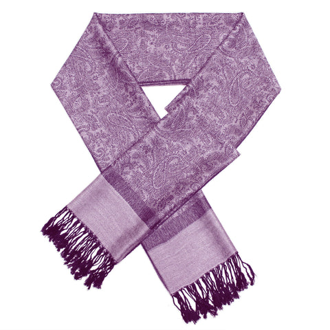 Whole Jacquard Pashmina FW1861 Mauve purple