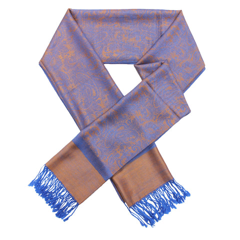 Whole Jacquard Pashmina FW1862 Blue/Orange