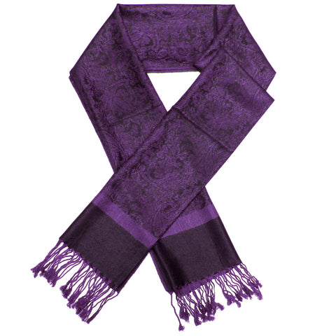 Whole Jacquard Pashmina FW1865 Grape
