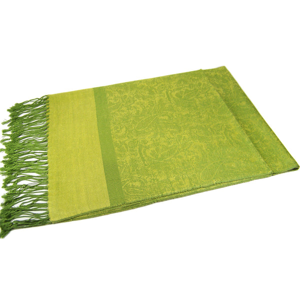 Whole Jacquard Pashmina FW1868 Grass Green