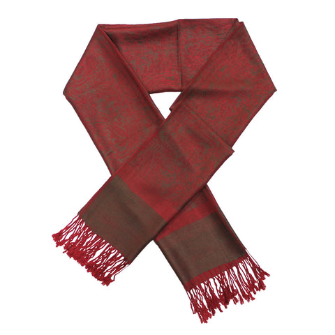 Whole Jacquard Pashmina FW1871 Red Brown