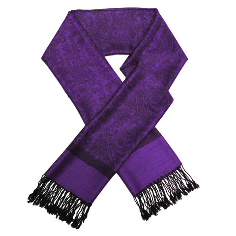 Whole Jacquard Pashmina FW1872  Purple/Black