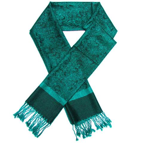 Whole Jacquard Pashmina FW1873 Dark Sea Green