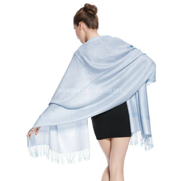 Whole Jacquard Pashmina FW1890 Bright Blue