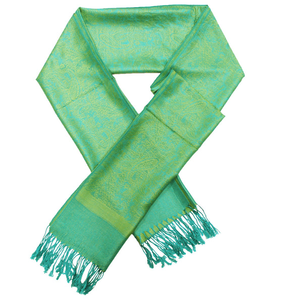Whole Jacquard Pashmina FW1896  Green Yellow
