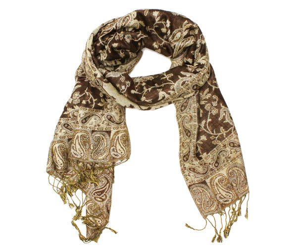 Gorgeous Paisley Pashmina FW2309 Brown