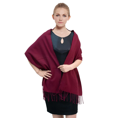 Cashmere Feel Scarf FW102043 Dark Crimson