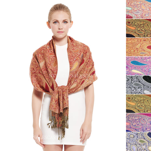 Big & Small Paisley Pashmina FW031S Assorted Colors