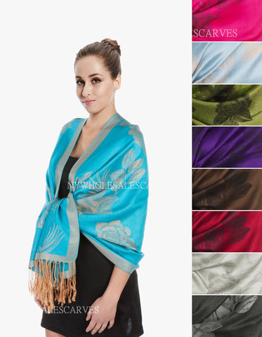 5400S Dual Tone Rose Pashmina  Assorted Colors