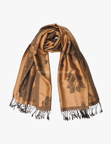 5402 Dual Tone Rose Pashmina Brown/Coffee