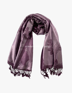 5416 Dual Tone Rose Pashmina Purple