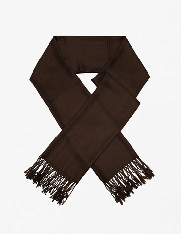 8107 Dark Brown Pashmina Scarf