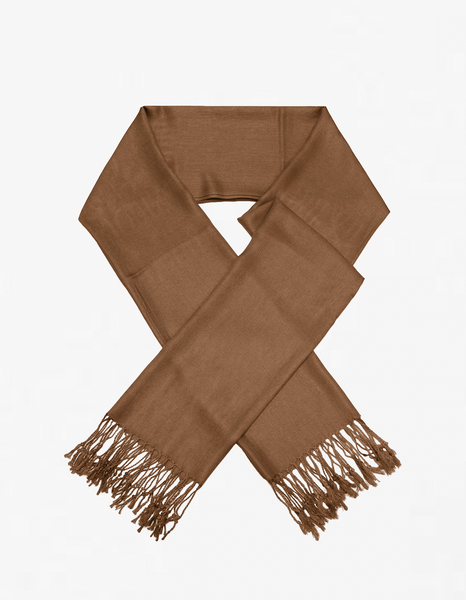 8111 Coffee Brown Pashmina Scarf