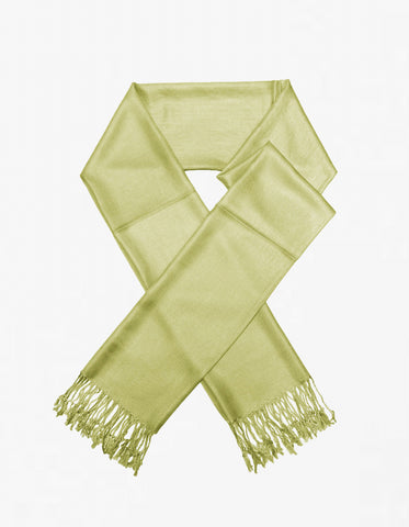 8114 Light Olive Pashmina Scarf