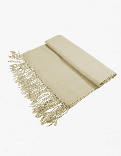 8122 Light Taupe Pashmina Scarf
