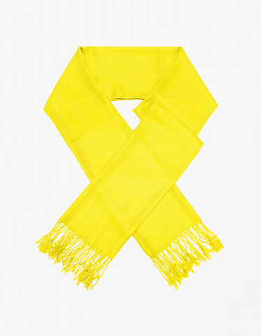 8138 Yellow Pashmina Scarves
